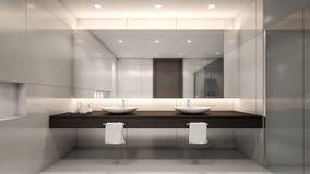 Modern tolkning toalett/3D Royaltyfri Fotografi