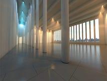modern tom korridor royaltyfri bild