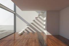 modern tom korridor vektor illustrationer