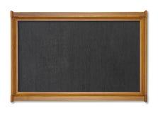Modern tom svart tavla på vit Arkivfoton