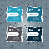 Modern torn paper for infographics. Vector infographics background Stock Images