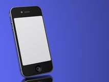 Modern Touch Phone on a blue background. Royalty Free Stock Image