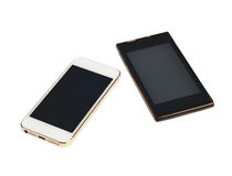 Modern touch screen smartphone on white background Stock Photo