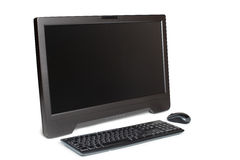Modern touchscreen desktop computer isolated Stock Photos