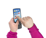 Modern touchscreen mobile phone Royalty Free Stock Image