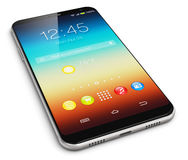Modern touchscreen smartphone Stock Image