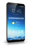 Modern touchscreen smartphone Royalty Free Stock Photos