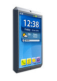 Modern touchscreen smartphone. Isolated 3d render Royalty Free Stock Photo