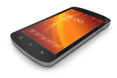 Modern touchscreen smartphone. On white background Stock Photography