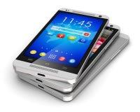 Modern touchscreen smartphones Stock Image