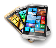 Modern touchscreen smartphones Stock Images