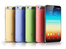 Modern touchscreen smartphones Stock Photography