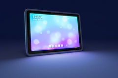 Modern touchscreen tablet. 3d render Royalty Free Stock Photography