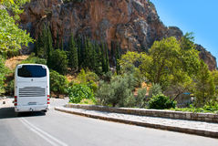 The modern tourist bus Stock Photography
