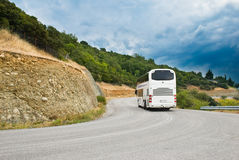 The modern tourist bus Stock Photos