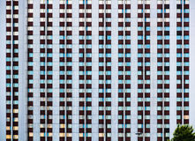 Modern tourist hotel complex `Izmailovo` in Moscow. Abstraction and geometry in buildings. Royalty Free Stock Photography