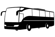Modern touristic bus. stock photography