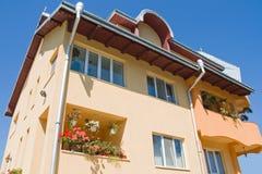 Modern touristic villa. Modern villa against blue sky Stock Photography