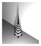 Modern tower. Figure of the prototype of an elegant modern tower. Illumination is made so, that the breadboard model rejects a shadow on a wall Royalty Free Stock Photography