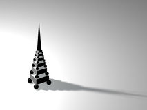 Modern tower. Figure of the prototype of an elegant modern tower Royalty Free Stock Image