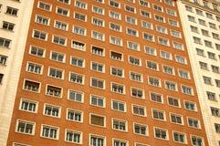 Modern tower block building. Exterior of modern urban high rise tower block building Royalty Free Stock Photos