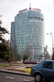 Modern tower. At charles de gaulle square in bucharest romania Stock Photos