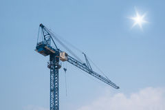 Modern tower crane Stock Photos