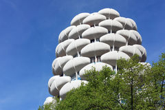 Modern tower in Paris suburb Royalty Free Stock Photos