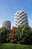 Modern tower in Paris suburb Stock Photo