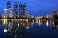 Modern Town,Bangkok cityscape Royalty Free Stock Images