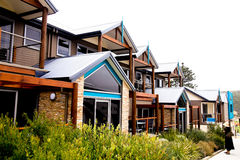 Seaside villas at Port Campbell Royalty Free Stock Images