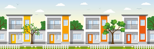 Modern Townhouse Royalty Free Stock Images