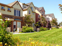 Modern townhouses in Santa Clara Royalty Free Stock Image