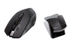 Modern trådlös mus och mottagare Royaltyfri Foto