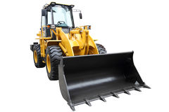Modern tractor. Modern tractor isolated on a white background stock photo