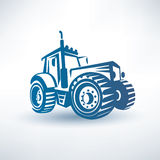 Modern tractor symbol. Modern tractor silhouette,  symbol Stock Image