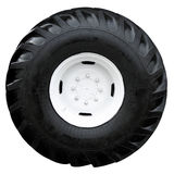 Modern tractor wheel Royalty Free Stock Image