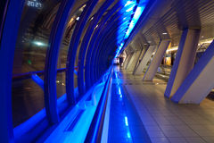 Modern trade center. Photo of the modern trade center hallway Royalty Free Stock Photo