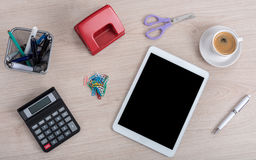 Modern and traditional office equipment Stock Photography