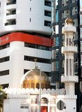 Modern and traditional religous architecture in Abu Dhabi Royalty Free Stock Photos