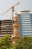Modern and traditional religous constructions overlapping  in Abu Dhabi Stock Photo