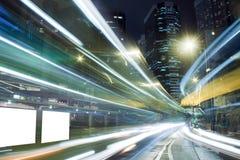 modern trafik för stad Arkivfoto