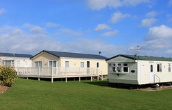 Modern trailer or caravan park Royalty Free Stock Image