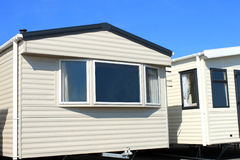 Modern trailer or caravan park Stock Image