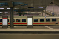 Modern train arriving Royalty Free Stock Photography