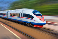 Modern train Stock Photos