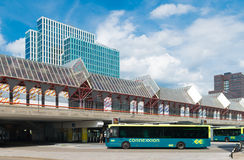 Modern train and bus station royalty free stock images