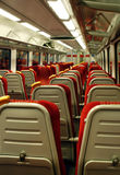 Modern train carriage. The interior of a modern train carriage Stock Image