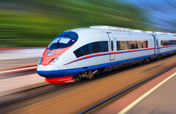 Modern train at high speed Royalty Free Stock Photography