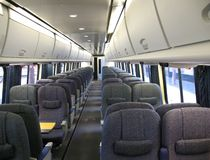Modern Train Interior Royalty Free Stock Images